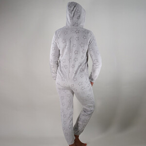 Luxury Star Print Onesie Grey