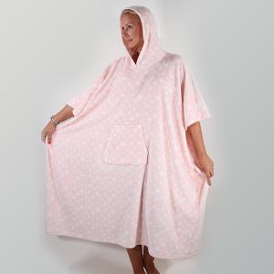 Star Print Snuggle Poncho Pink