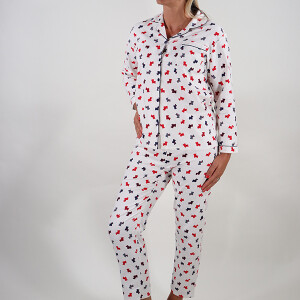 Ladies Scottie Dog Winceyette Pyjama Set