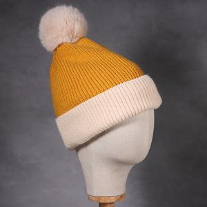 Ladies Sophia Beanie Hat Cream Mustard