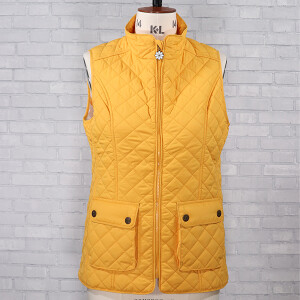 Quilted Banbury Gilet With Sausage Dog Lining Gold