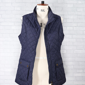 Quilted Banbury Gilet With Sausage Dog Lining Navy