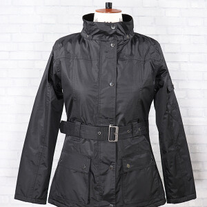 Belted Clover Jacket Black