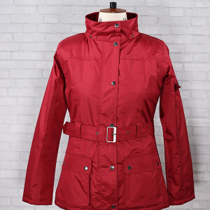 Belted Clover Jacket Brick Red