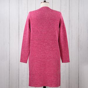 Knitted Coatigan Raspberry