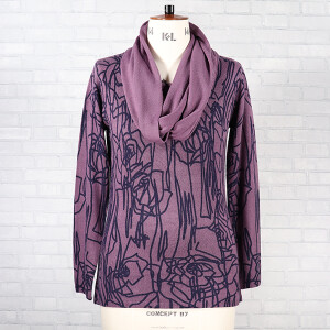 Top And Snood 2PC Set Grape