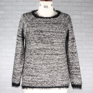 Hairy Yarn Sequin Jumper Black Grey