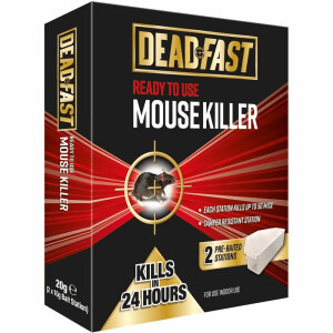 Deadfast Ready To Use Mousetrap Kill Bait Station Twin Pack