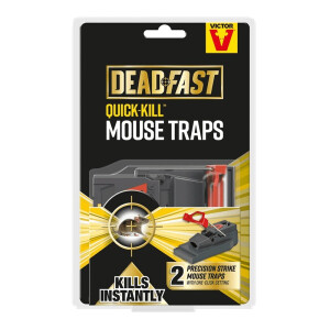 Deadfast Quick Kill Mousetrap Twin Pack