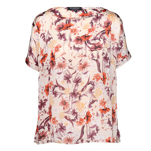 Woven Crinkle Top Autumn Floral Ginger