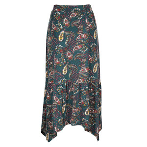 Printed Skirt With Dipped Hem Ivy Paisley