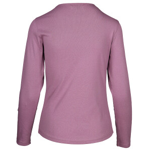 1×1 Rib Round Neck Long Sleeved Tee Grape