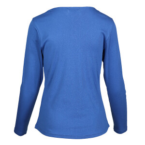 1×1 Rib V-neck Long Sleeved Tee Royal Blue