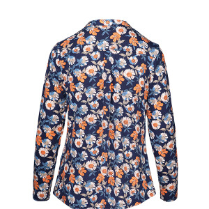 Jersey Printed Long sleeved Shirt Navy Orange Daisy