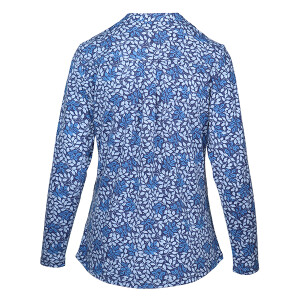 Jersey Printed Long sleeved Shirt Blue Leaf Print