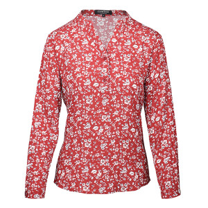 Woven Crinkle Shirt Ditsy Floral Wine