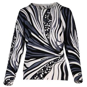 Animal Print Heatstone Top Cream Grey Black