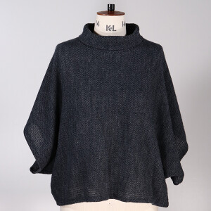 Cowl Neck Jumper Navy Blue