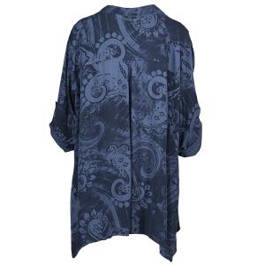 Oversized Shirt  Paisley Print Denim