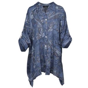 Paisley  Print Shirt Denim