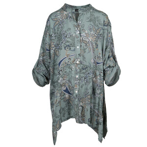 Paisley Print Shirt Sage