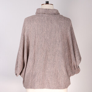 Cowl Neck Jumper Pink Grey