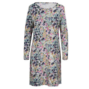 Jersey Long Sleeved Printed Dress Floral
