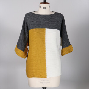 Colour block Jumper Mustard