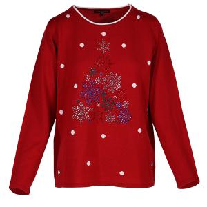 Christmas Jumper Snowflake Tree Red