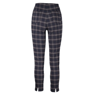 Ankle Grazer Trouser All Over Check Navy Yellow