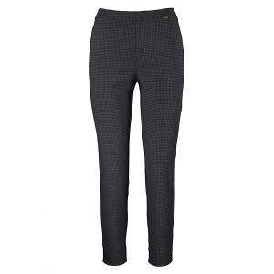 Ankle Grazer Trouser All Over Dogtooth Grey Black