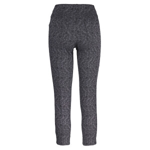 Ankle Grazer Trouser All Over Jacquard Black
