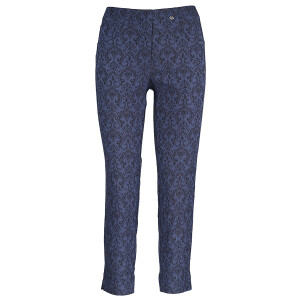 Ankle Grazer Trouser All Over Jacquard Sapphire