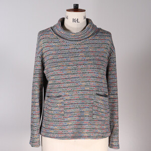 Cowl Neck Top Grey Multi