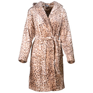 Ladies Soft Leopard Print Robe