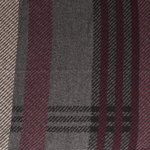 Men's Scarf Edge Check Grey Mulberry