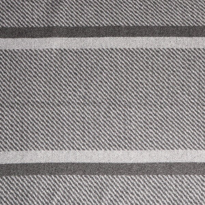 Men's Scarf Herringbone Stripe Grey
