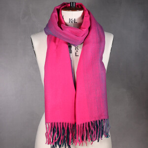 Ladies Super Soft Ombre Scarf With Fringe Pink