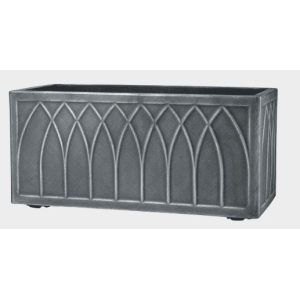 Lead Effect Versailles Trough Pewter