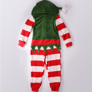 Childrens Christmas Elf Onesie Red