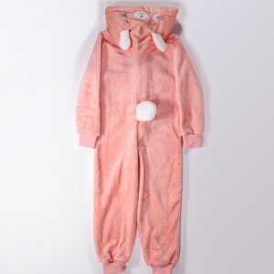 Childrens Bunny Onesie Pink