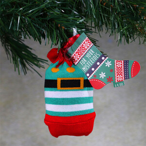 Men's Single Novelty Christmas Socks In A Bag Elf