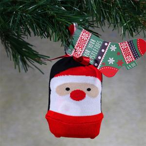 Men's Single Novelty Christmas Socks In A Bag Santa
