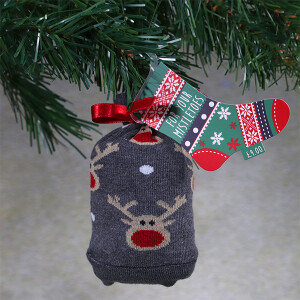 Men's Single Novelty Christmas Socks In A Bag Rudolph