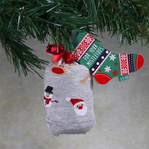 Men's Single Novelty Christmas Socks In A Bag Xmas Tree