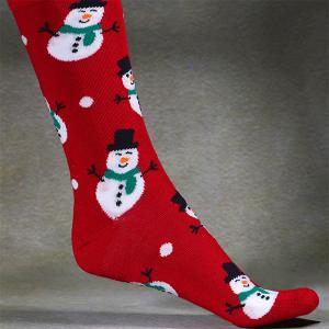 Men's Single Novelty Christmas Socks In A Bag Snowman