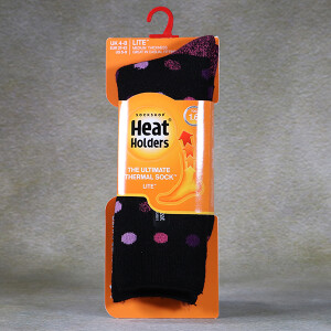 Ladies Heat Holder Lite Socks Black