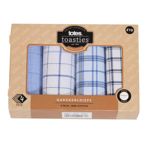 Men's 4Pack Boxed Hankies Check