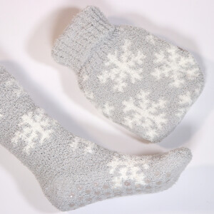 Cosy Socks, Hot Water Bottle And Fairy Light Gift Set