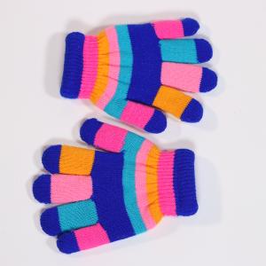 Childrens Multi Striped Gloves